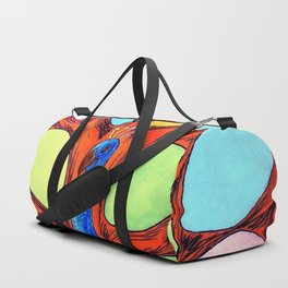 12 PETALS PEACOCK - CRAFT, DRAWING & COLOURING Duffle Bag
