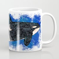 killer whale Mugs featuring Killer Whale by Ben Geiger
