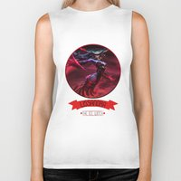 league of legends Biker Tanks featuring League Of Legends - Lissandra by TheDrawingDuo