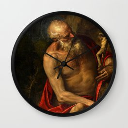 "Veronese (Paolo Caliari) ""Saint Jerome meditating"" Wall Clock"