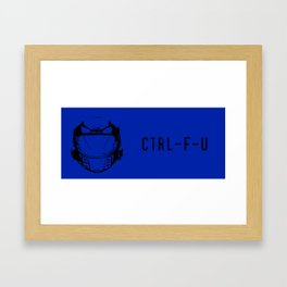 Ctrl-F-U - Red vs Blue Caboose Framed Art Print