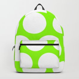 Large Polka Dots: Lime Green Backpack