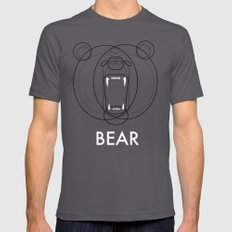 Bear LARGE Mens Fitted Tee Asphalt