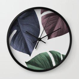 Monstera 02 Wall Clock