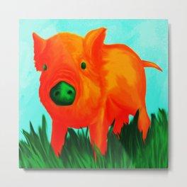 The Tangerine Pig Metal Print