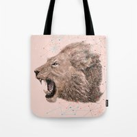 leo Tote Bags featuring Leo by dogooder