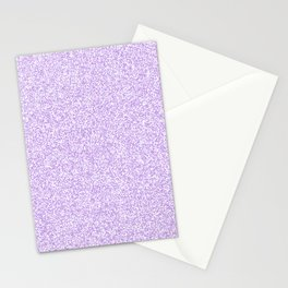 Spacey Melange - White and Light Violet Stationery Cards
