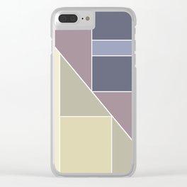 Simple geometric pattern. Clear iPhone Case