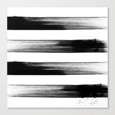 Japanese calligraphy stroke stripe -Zen style, black and white Canvas Print