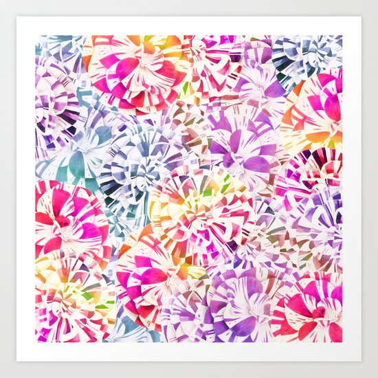 soft carnations Art Print