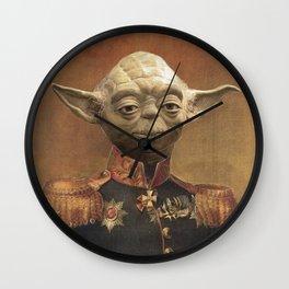 General Yoda Portrait Painting On Canvas | Fan Art Wall Clock