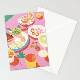 Pink Picnic Stationery Cards