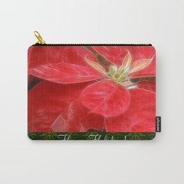 Mottled Red Poinsettia 1 Ephemeral Happy Holidays S6F1 Carry-All Pouch