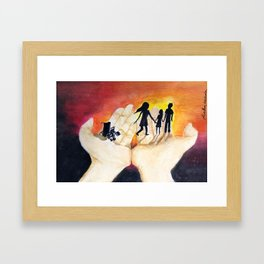 You Have Power To Reunite a Family in The Palm of Your Hands Framed Art Print