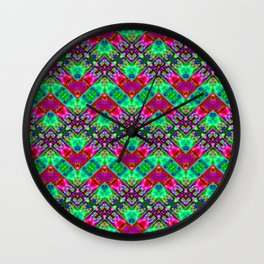 Stitched Vibrant Zigzags Wall Clock