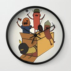 AT - Hog Dog Knights Wall Clock