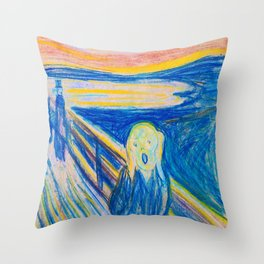 The Scream 1893 - Digital Remastered Edition Throw Pillow