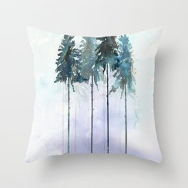 Siberian Forest 2 Throw Pillow
