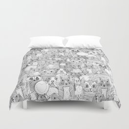 crazy cross stitch critters Duvet Cover