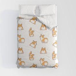 Cute corgi butt Comforters