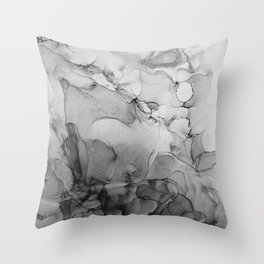 Harmony in Black and White Throw Pillow