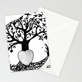 """Tree of Flight"" Hand-Drawn by Dark Mountain Arts Stationery Cards"