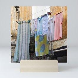 LAUNDRY DAY - Catania - Sicily Mini Art Print