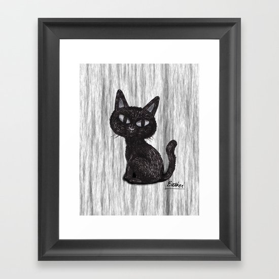 BLACK CAT 2 Framed Art Print