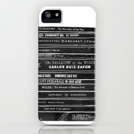 Mono book stack 1 iPhone Case