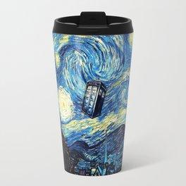 Tardis Starry Night Art Painting Travel Mug