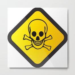 Toxic Sign PNG Metal Print