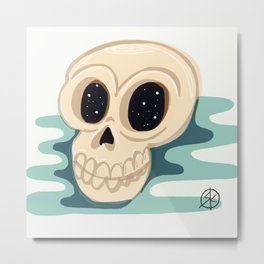 very scary skull Metal Print