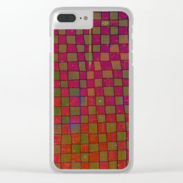 Manual Grid Fall Digital Clear iPhone Case