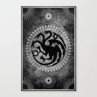 targaryen Canvas Prints featuring House Targaryen by Micheal Calcara