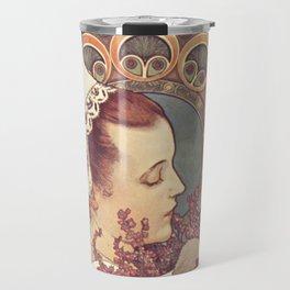 HEATHER from Coastal CLIFFS Alphonse Mucha 1902 Travel Mug