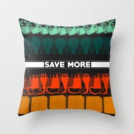 Save More Piece Throw Pillow