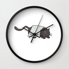 Daily Orange News Cat Wall Clock