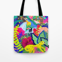 Jungle Party Animals Tote Bag