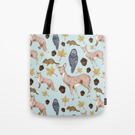 Woodland Creatures Tote Bag