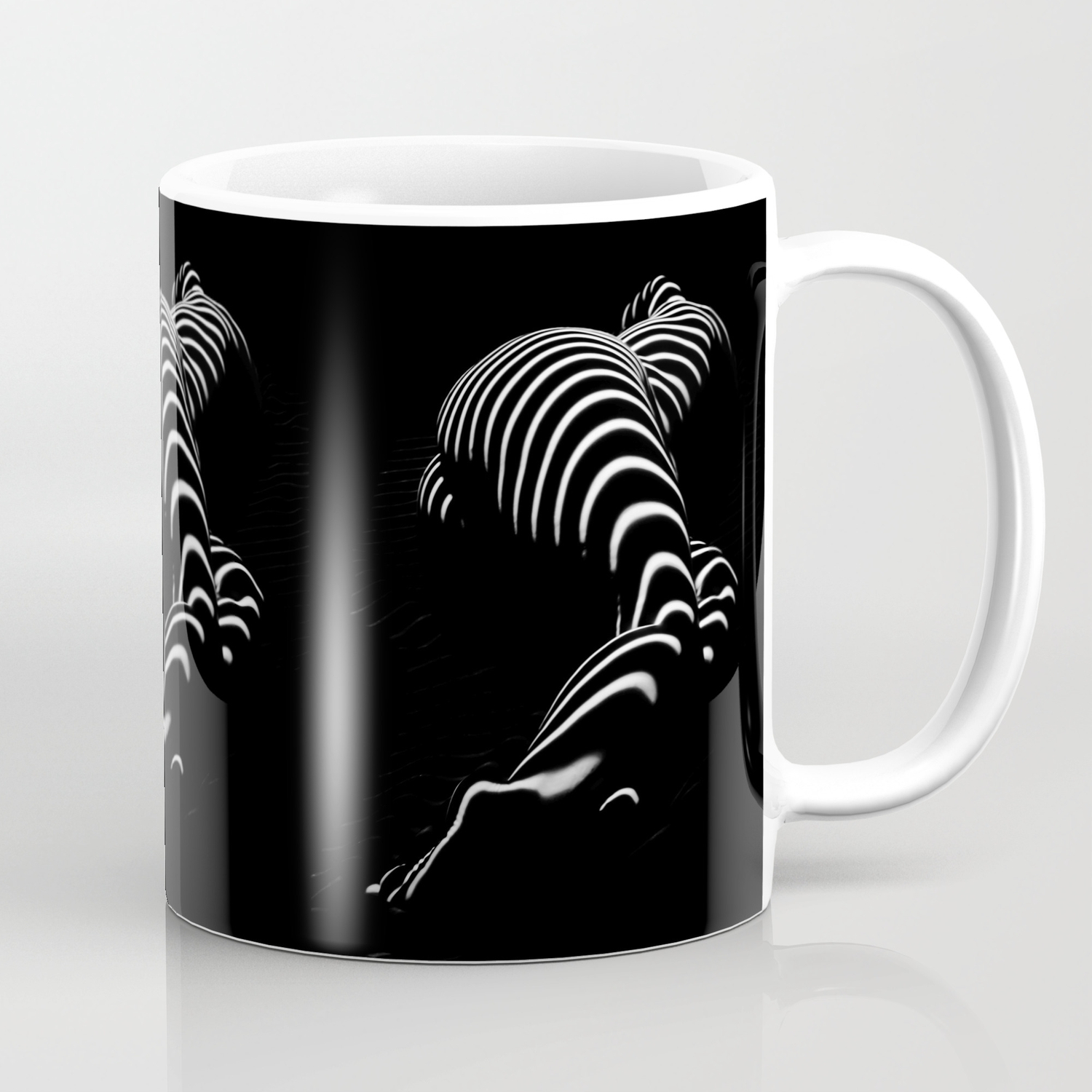 0774 ar bbw sensual legs hips and ass of a large woman big beautiful art nude black and white coffee mug