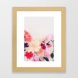 Crepe paper flowers Framed Art Print