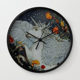 te second last unicorn Wall Clock
