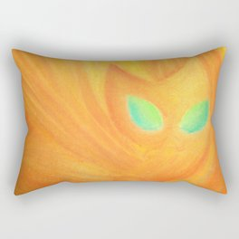 Emeralds in fire Rectangular Pillow