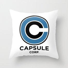 Capsule Corp Throw Pillow