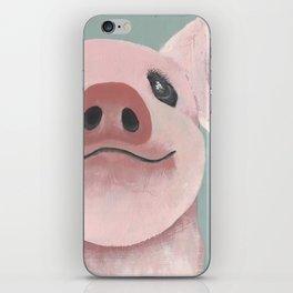 Original Painting - Farm Friends - Baby Pig - Cute Pig Painting iPhone Skin