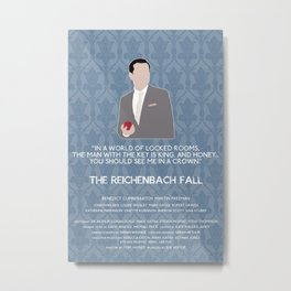 The Reichenbach Fall - Jim Moriarty Metal Print