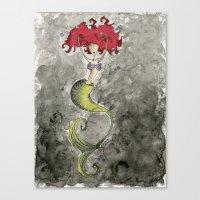 ariel Canvas Prints featuring Ariel by Jena Sinclair