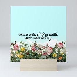 Faith & Love Mini Art Print