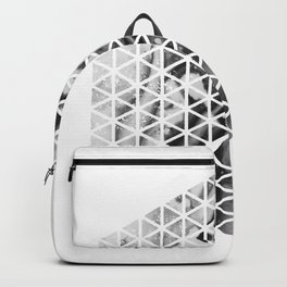 Ink Bleed Geometric Backpack