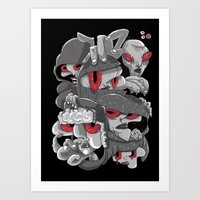 marauders Art Prints featuring Midday Marauders by Chent Sanchez